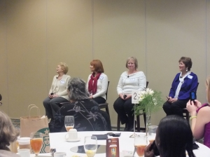 The Q & A Panel--Marta Perry, Linda Goodnight (coolest name ever, BTW) Missy Tippens, and Debby Guisti